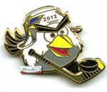 Значок Hockey Bird талисман ЧМ 2012 Швеция